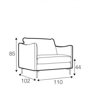 Wave armchair wide