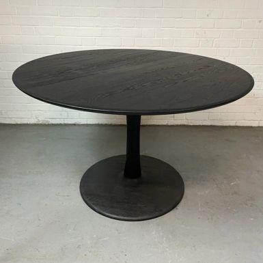 Ex-display Oak Black Torsion dining table 127 x 127cm  (240399)