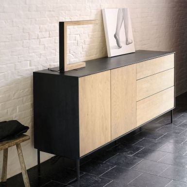 Ethnicraft Oak Blackbird sideboard - 2 doors / 3 drawers
