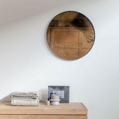 Notre Monde Bronze Round Aged Mirrors