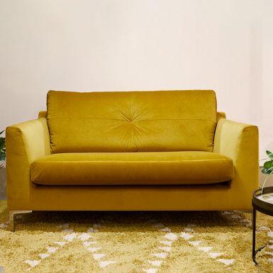 Button cuddler sofa