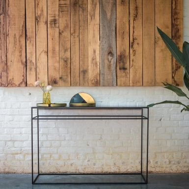 Ethnicraft Heavy aged mirror console - Charcoal