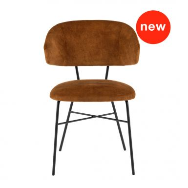 Coco chair with armrest and metal legs