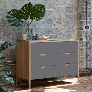 Como 6 drawer low chest of drawers