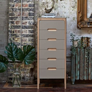 Como 6 drawer narrow chest of drawers