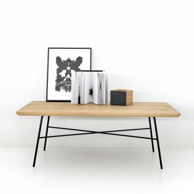 Ethnicraft Oak Disc coffee table square