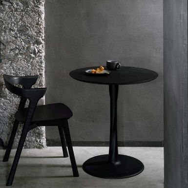 Ethnicraft Torsion black oak round dining table