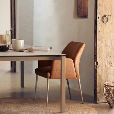 Fiji ceramic table - Square leg