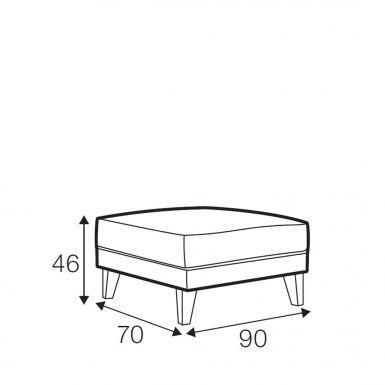 Sunday footstool small