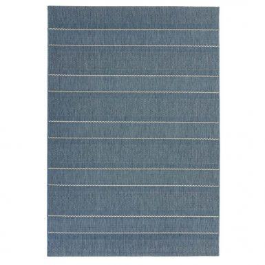 Havana indoor and outdoor blue stripe rug