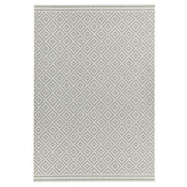Havana indoor and outdoor diamond grey rug