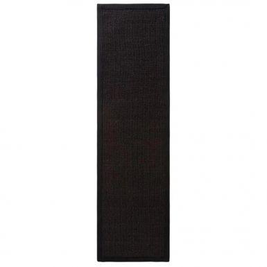 Jali runner rugs - Black