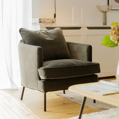 Jules loose cover with velcro armchair