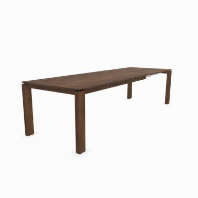 Mason straight leg PB1 walnut extending dining table