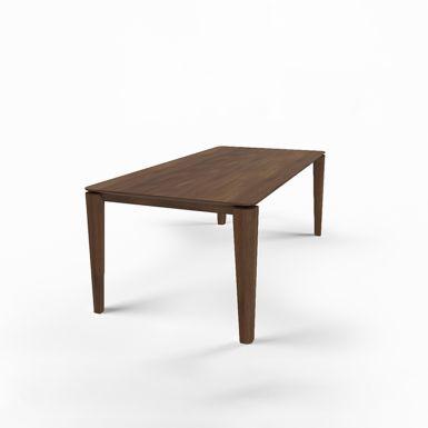 Mason round leg PB2 walnut extending dining table