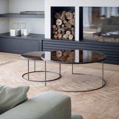 Notre Monde Nesting Heavy Aged Mirror Coffee Tables - Set