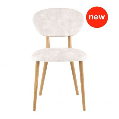 Coco chair with wooden legs