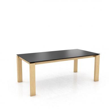 Mason straight leg PB1 Fenix + oak extending dining table