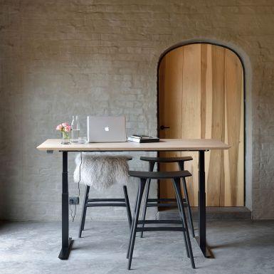 Ethnicraft Bok adjustable oak desk