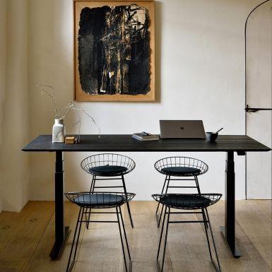 Ethnicraft Bok adjustable black oak desk