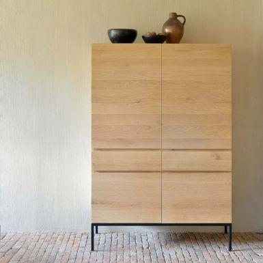 Ethnicraft Oak Ligna storage cupboard black - 4 doors - 2 drawers