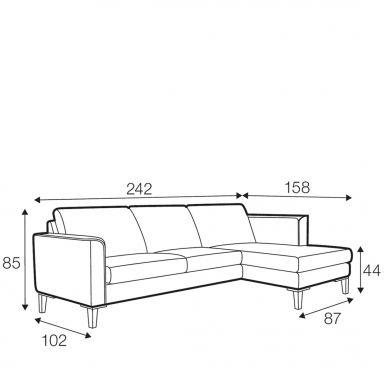 Hacienda corner sofa - set 1