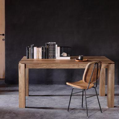 Ethnicraft Slice teak extendable dining table
