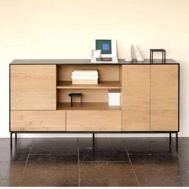 Ethnicraft Oak Blackbird sideboard - 3 doors / 2 drawers