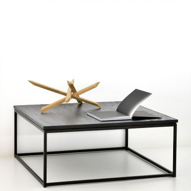 Ethnicraft Oak Thin coffee table - black