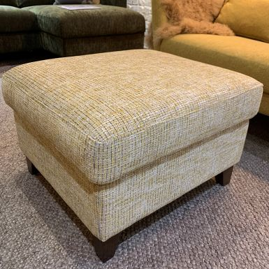 Ex display Wells small footstool with storage in Paris yellow fabric