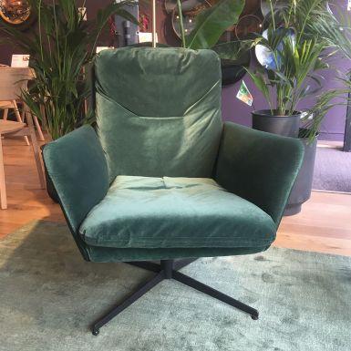 Ex display Zed swivel armchair in Classic velvet green (239120)