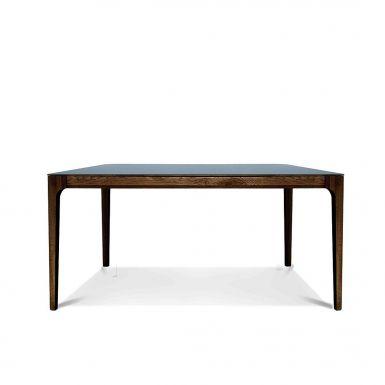 Zurich Fenix + walnut dining table