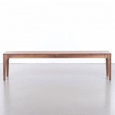 Zurich solid walnut bench