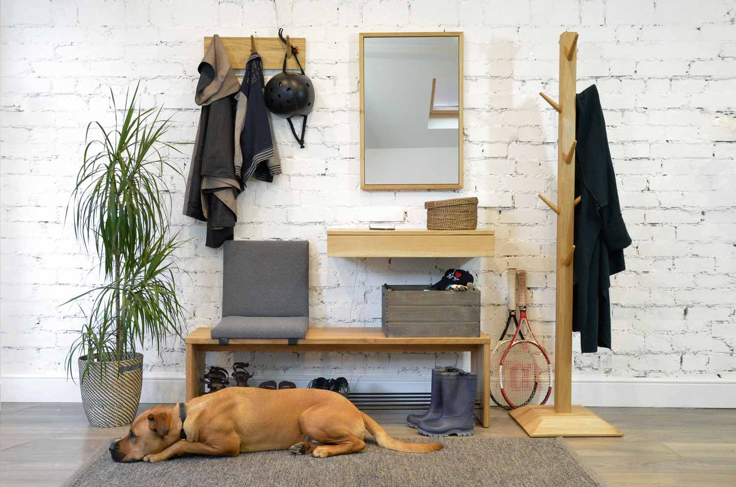 Vestibule hallway collection with our favourite pooch, Ramsey