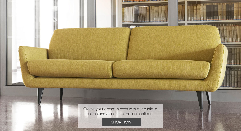 Adventures in Furniture's custom upholstery