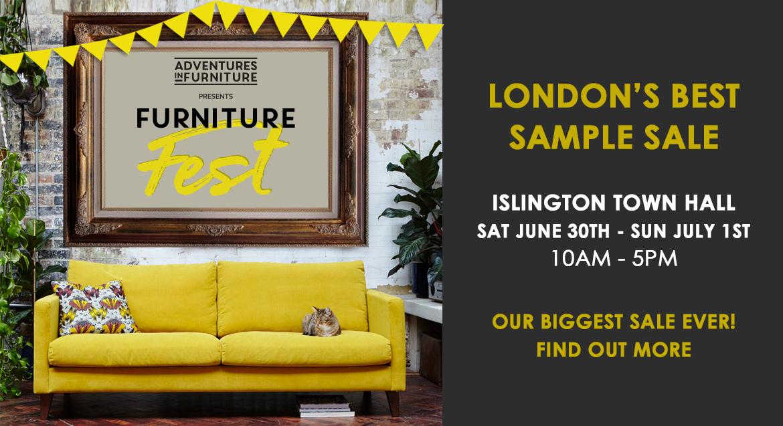 London's best sample sale! Furniture Fest is back