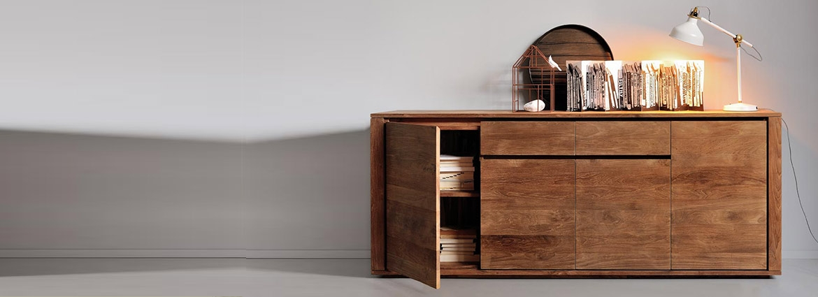 Wooden and contemporary sideboards