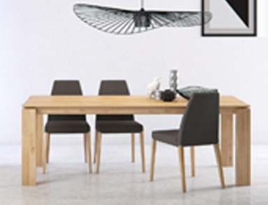 Straight Leg Solid Oak Dining Table By Adventures In Furniture.