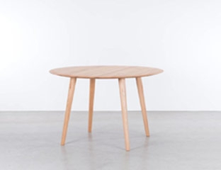Round Oak Dining Table designed By Adventures In Furniture.