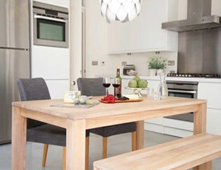 Rustic Solid Oak Extendable Dining Table And Bench Designed By Adventures In Furniture.