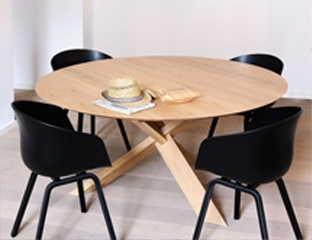 Japanese Inspired Roun Oak Dining Table By Adventures In Furniture.