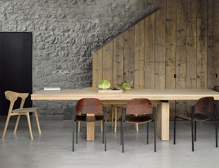 Large Extendable Solid Oak Table By Adventures In Furniture.
