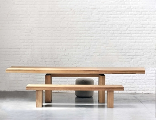 Extendable Teak Dining table By Adventures In Furniture.