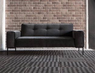 2 Seater Fabric Sofa Designed By Adventures In Furniture. These Handmade Sofas Have Endless Fabric Choices To Fit Every Space In Your Home. This Sofa On Show Has Wooden Legs With A Matching Coffee Table