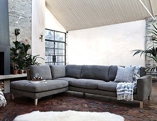 Modern Corner Sofa Designed By Adventures In Furniture. Our Contemporary Sofas Have Endless Fabric Choices To Fit Every Space In Your Home. This One In Particular Looks Great On Dark Wooden Flooring