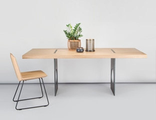Industrial Oak Dining Table Designed By Adventures In Furniture.