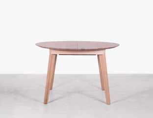 Extendable Oak Round Dining Table By Adventures In Furniture.