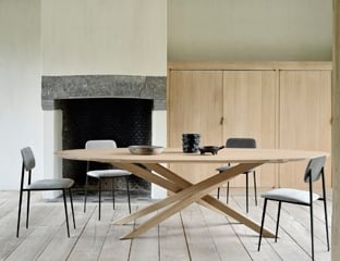 Oak Oval Dining Table By Adventures In Furniture.