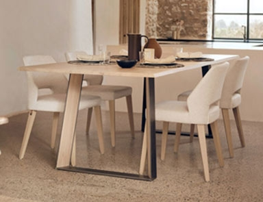 Metal Leg Dining Table by Adventures In Furniture.