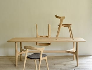 Oak dining table By Adventures In Furniture.